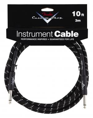 Fender Custom Shop Cable Black Straight 3m
