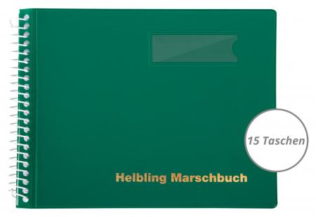 Helbling BMG15 Marschbuch grün, 15 Taschen