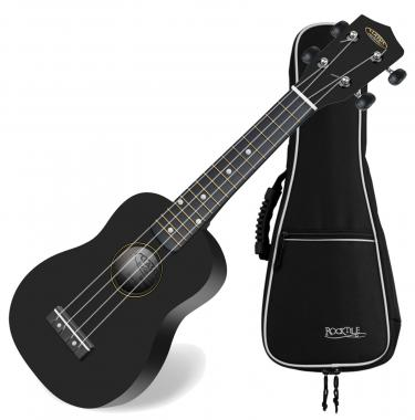 Classic Cantabile US-100 BK Black Soprano Ukulele SET incl. gig bag