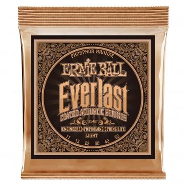 Ernie Ball 2548 Everlast Coated Phosphor Bronze Light