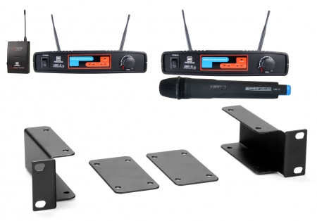 Pronomic UHBF-11 dual vocal / instrument wireless set ISM K7 + K8 863.000 Mhz 864.350 MHz
