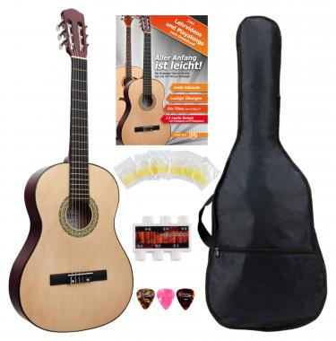 Classic Cantabile Acoustic Series AS-851 4/4 Konzertgitarre Starterset  - Retoure (Zustand: sehr gut)