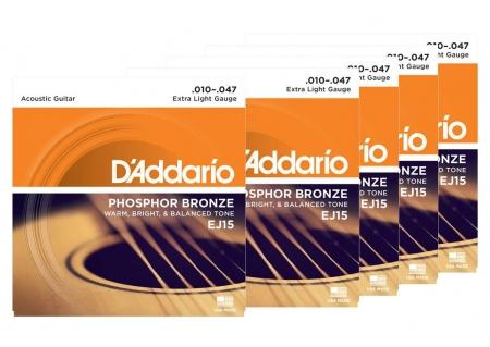 D'Addario EJ15 Extra Light - 5er Pack