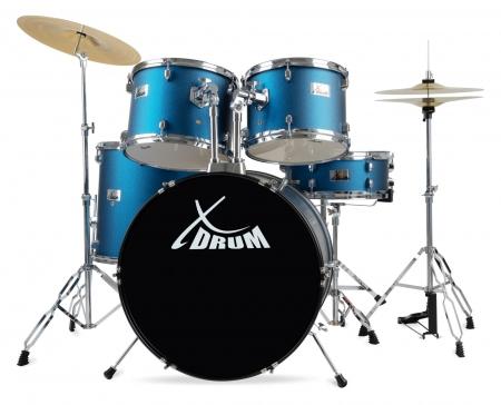 """XDrum Semi 22"""" Standard Drum Set Blue"""