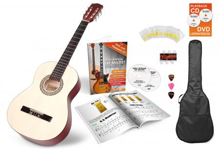 Calida Lucia 4/4-Size Acoustic Guitar Starter Set, Natural, With Accessories