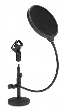 McGrey MST-20 microphone statif de table avec anti-pop set