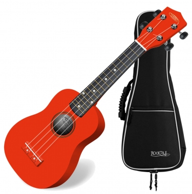 Classic Cantabile US RD-100 Soprano Ukulele Red SET incl. gig bag