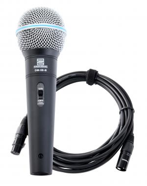 Pronomic DM-58-B Vocal Mikrofon mit Schalter SET inkl. 5m XLR Kabel
