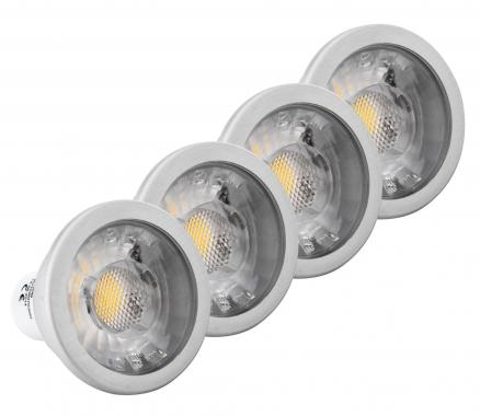 4x Ensemble Showlite LED Spot COB GU10W07K30N 7 Watt, 550 Lumen, base GU10, 3000 Kelvin