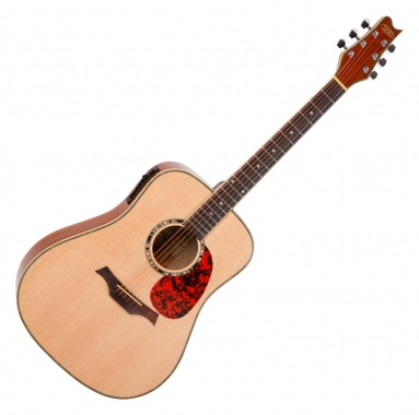 Classic Cantabile WS-2 Guitare folk (bois naturel)