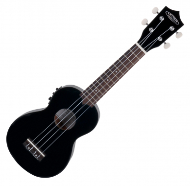 Classic Cantabile US-400CE Soprano Ukulele With Pickup Black