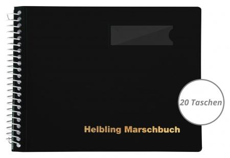 Helbling BMS20 Marschbuch schwarz 20 Taschen