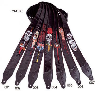Levys Gitarrengurt LY-MT8E006 Gothic