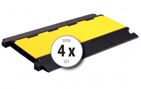 4x Set Pronomic Protector 5-90 VL Canalina Pavimento Passacavi Ponte Cavo 5 Canali con aggancio