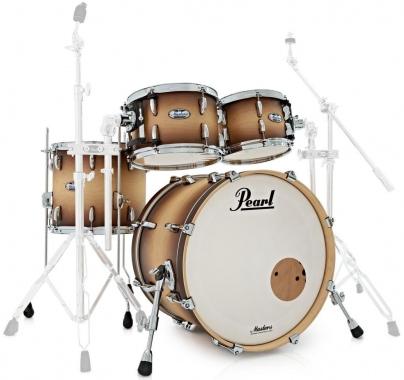 """Pearl MCT904XEP/C351 Shell Kit Satin Natural Burst 20"""" BD, 10"""", 12"""" TT, 14"""" FT"""