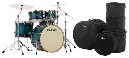 Tama CL50R-BAB Superstar Classic Shellset Blue Lacquer Burst Set mit Taschen