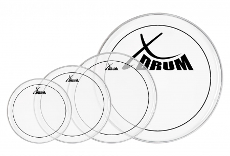 "XDrum Oil Hydraulic Drum Head Set 10"" 12"" 14"" 20"""