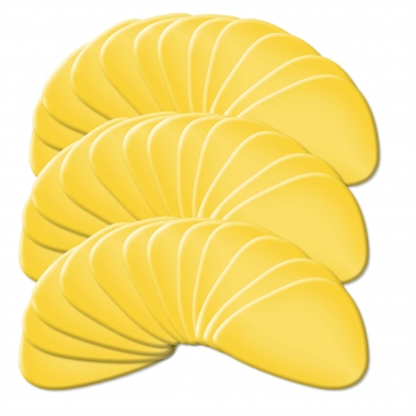 Rocktile Yellow Pick/plectro pack de 36 medium