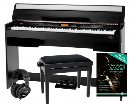 Classic Cantabile CP-A 320 RH Digital Piano Black, set incl. Bench, Headphones