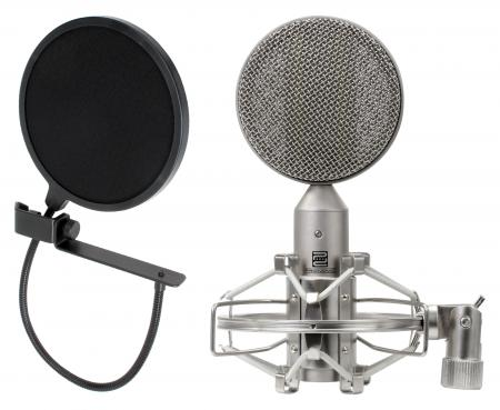 Pronomic RM-1 Microphone à Rubans SET avec filtre anti-plosives