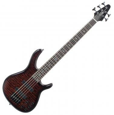 Rocktile Pro R5-FB E-Bass, 5-snarig Flamed Blaze