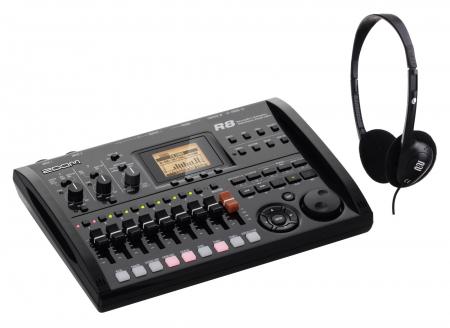 Zoom R8 Digital-Recorder 8 Spuren Set mit Kopfhörer