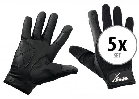 5-Piece Set XDrum Drummer Gloves M long