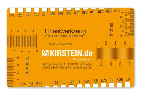 Kirstein Linealwerkzeug für Saiteninstrumente String Action Ruler