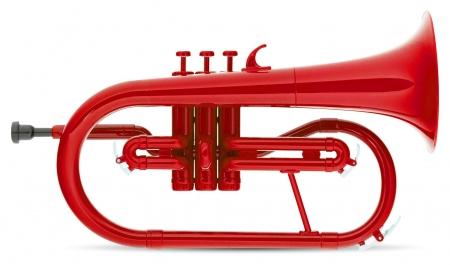 Classic Cantabile MardiBrass plastic Bb Flugelhorn red