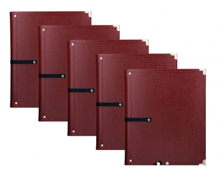 Classic Cantabile B16BR Music Folders Standard Brown, 5-Piece Set