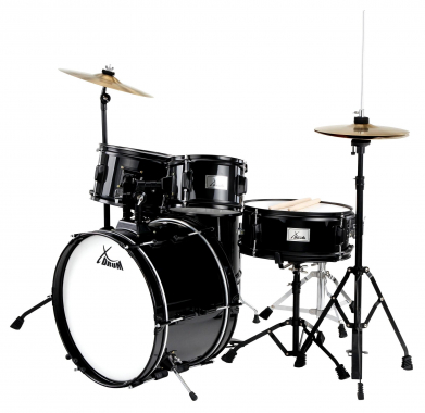 XDrum Junior Pro II Black Kid's Drum Set
