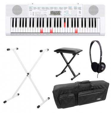 Casio LK-247 Leuchttasten Keyboard Deluxe SET inkl. Kopfhörer, Ständer, Bank und Tasche
