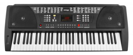 FunKey 61 Keyboard with power supply and music stand black