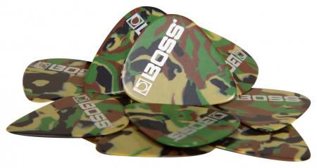 Boss BPK-12-CM Zelluloid Plektrum Medium 12er Pack Camo