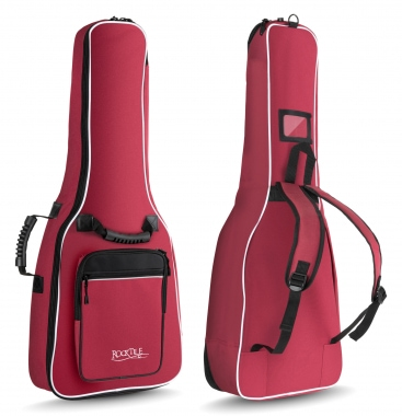 Rocktile 1/2 Classical Guitar Gig Bag Padded + Backpack Straps Wine Red