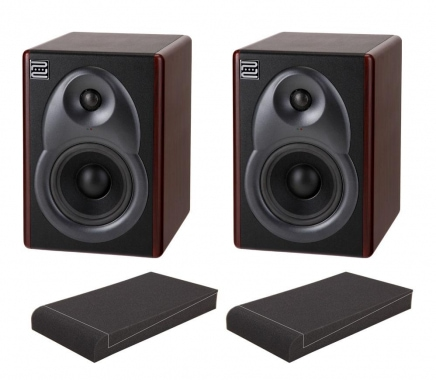 "Pronomic M8B Aktive Studio Monitore SET mit 8"" Absorberplatten"