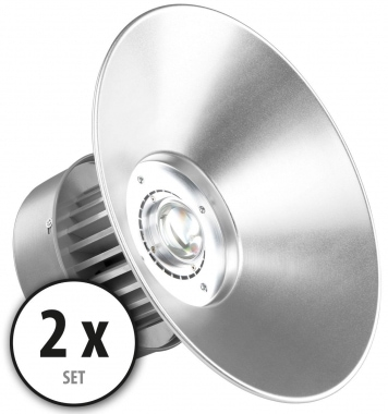 Kit 2 x Showlite HBL-50 COB LED High Bay Faro per capannoni 50W