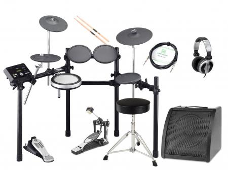 Yamaha DTX522K Compact E-Drum SET inkl. Kopfhörer, Hocker, Drum Monitor und Sticks