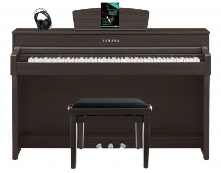 Yamaha CLP-635 DW Digitalpiano Walnuss SET mit Kopfhörer, Bank, Schule