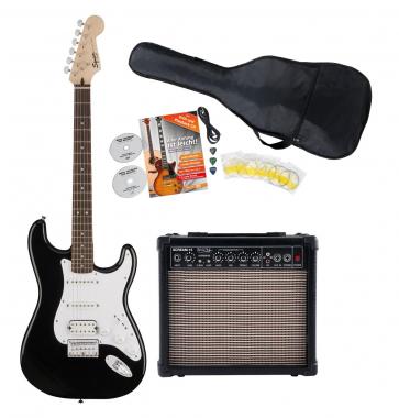 Fender Squier Bullet Strat HT HSS IL BLK Start SET