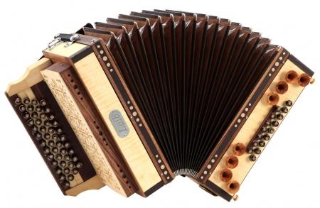 Loib Harmonika IVD érable G-C-F-B avec basse H et basse en alternance