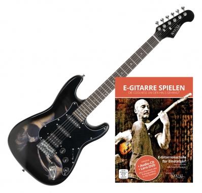 Rocktile Pro ST60-SK E-Gitarre Skull + Gitarren-Schule