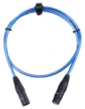 Pronomic Stage Microfoonkabel XLR (1m.) metallic blauw