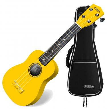 Classic Cantabile US 100 Ye Soprano Ukulele Yellow SET incl. gig bag