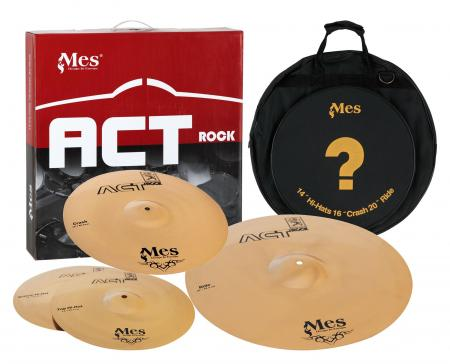 "Mes Drums Act Series Set Platos HiHat 14"", Crash 16"", Ride 20"""