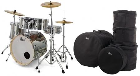 Pearl Export EXX705NBR/C21 Drumkit Smokey Chrome Set mit Taschen
