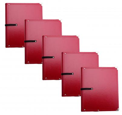 Classic Cantabile B02RD Partition Folder Standard Red 5x Set