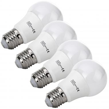 4x SET Showlite LED lamp  G60E27W09K30N 9 Watt, 860 Lumen, sokkel E27, 3000 Kelvin