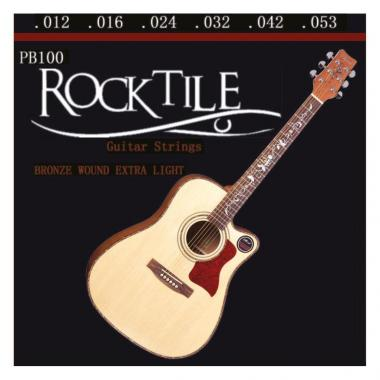 Rocktile strings for acoustic guitar light
