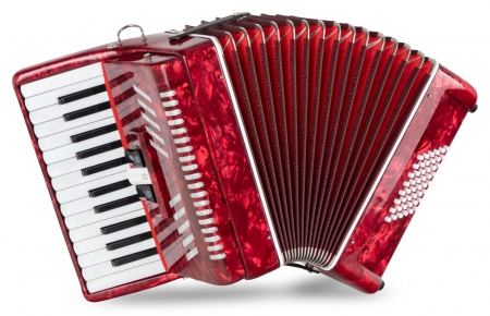 "Classic Cantabile 48 bass accordion ""Secondo V"" red"